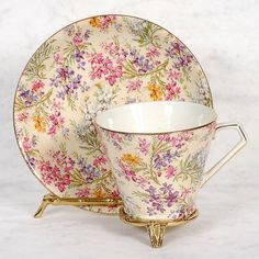 """Lord Nelson """"Heather"""" Chintz Cup Saucer"""