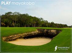 es encontrar las trampas de arena mas profundas del PGA TOUR solo en Mayakoba Golf Course, El Camaleón. #JUEGAmayakoba.