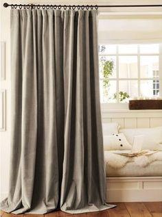 Velvet Drape   Traditional   Curtains   Pottery Barn