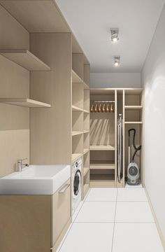 Imaginative Approach on Basement Laundry Makeover Projects Modern Laundry Rooms, Laundry Room Layouts, Laundry Room Organization, Modern Room, Basement Laundry, Laundry Closet, Laundry Room Inspiration, Closet Remodel, Laundry Room Design