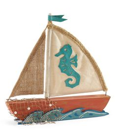 Another great find on #zulily! Sailboat Centerpiece #zulilyfinds