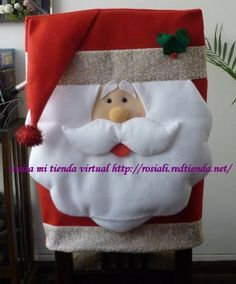 Funda de sillas navideñas - Imagui Christmas Sewing, Christmas Home, Christmas Holidays, Christmas Crafts, Merry Christmas, Christmas Ornaments, Indoor Christmas Decorations, Halloween Decorations, Holiday Decor