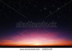 sunset sky star background light sunrise nature for design - stock photo