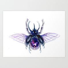 jewel beetle Art Print by Eszter Nagy