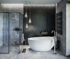 Modern Bungalow Exterior, Baths Interior, Dream House Plans, Grey Bathrooms, Modern House Design, Tile Design, Villa, Sweet Home, Houses