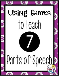 "Using Games to Teach Parts of Speech. ""Read about how I play these fun, free grammar games to teach parts of speech and to make it FUN! Grammar Games, Grammar And Punctuation, Grammar Activities, Teaching Grammar, Grammar And Vocabulary, Grammar Lessons, Teaching Language Arts, Classroom Language, Teaching Writing"