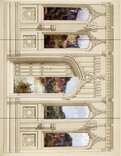 An interesting site for various paper crafts - this is a backdrop for a play set - a Castle Entrance Hall