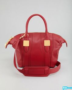 Morrison Small Tote Bag from Rachel's Spring 2013 Collection. In super hot red, we'd take this tote anywhere.
