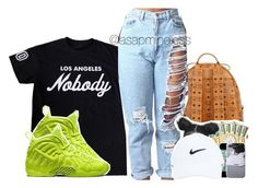 11 : 00  by asapmindless on Polyvore featuring polyvore, fashion, style, NIKE and MCM