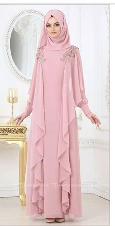 Renew your wardrobe with these, new abaya style which will enhance your personality. We have come with 50 different abaya style 2020 that will make you Hijab Gown, Hijab Dress Party, Abaya Fashion, Modest Fashion, Fashion Dresses, Fashion Muslimah, Abaya Designs, New Abaya Style, Abaya Mode