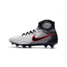 low priced aefcb 9b9a0 Billig Nike Fußballschuhe Nike Magista Obra II FG Grau Schwarz