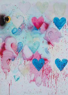 Jim Dine (b. Heart Graffiti, Richard Tuttle, Jim Dine, Modern Masters, Absolutely Fabulous, Heart Art, Paper Background, Iphone Wallpaper, Contemporary Art