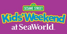 This weekend, Jan. 23-24, SeaWorld Orlando is hosting Sesame Street Kids' Weekend! Details: