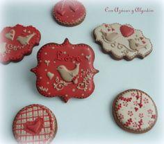 Galletas para San Valentín.