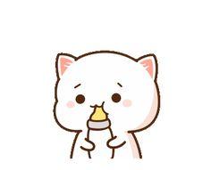Cute Love Pictures, Cute Love Gif, Cute Love Memes, Cute Images, Cute Anime Cat, Cute Anime Pics, Cute Cat Gif, Cute Bear Drawings, Cute Cartoon Drawings