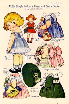 dolly dingle | Dolly Dingle Paper Dolls