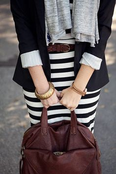 Black, brown, grey and white are fabulous together!