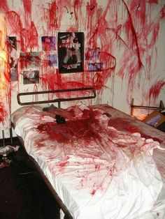 Angela's room after she brings someone in
