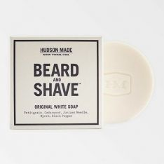 Hudson Made Beard and Shave Soap, Original White. Available at TeichDesign.com $
