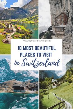 Looking for the most beautiful places in Switzerland? These are the must-see amazing destinations in Switzerland | Switzerland travel, amazing places | Switzerland bucket list | Switzerland amazing nature | Things to do and see in Switzerland | Most beautiful places in Switzerland.| Most beautiful places to visit in Switzerland.| #switzerland #switzerlandtravel #switzerlandamazingplaces #switzerlandbeautifulplaces #switzerlandthingstodo Best Places In Switzerland, Switzerland Travel Guide, Visit Switzerland, Backpacking Europe, Europe Travel Guide, Travel Guides, Beautiful Places To Visit, Amazing Places, Cool Places To Visit