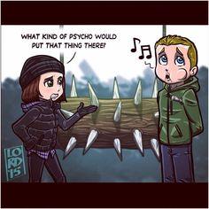 Thea and Ollie ~~ Arrow ~~ art by Lord Mesa Arrow Cw, Arrow Oliver, Team Arrow, Arrow Funny, Arrow Memes, Lord Mesa Art, Flash Funny, Arrow Tv Series, The Flash Grant Gustin