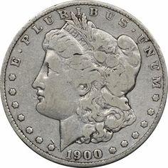 1900 S Morgan Silver Dollar, Fine F