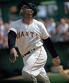 """Original Pinner shared, """"Willie Mays 1966 In a 6-1 victory over Los Angeles at Candlestick Park, Willie Mays becomes the all-time National League home run leader as he strokes his 512th career round-tripper off Dodger starter Claude Osteen."""