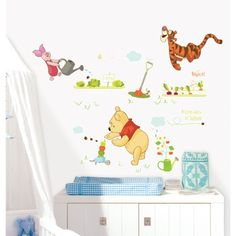 Pooh in the Garden Wall Stickers