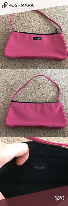 Small Kate Spade Shoulder Bag Small bag with some stains.  Price reflects condition.  Authentic. kate spade Bags Shoulder Bags