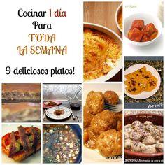 Cocina en un día 9 platos para el resto de la semana. ¡Vamos a organizarnos!