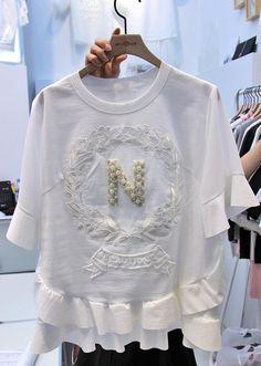 . 15 새로운 _The HOSI 여성 모델에 _The HOSI 4를 구입 동국대 문 반소매 T 셔츠 사이즈 # 1 ₩의 34000를 flounced - 동국대 도어 구매 도매