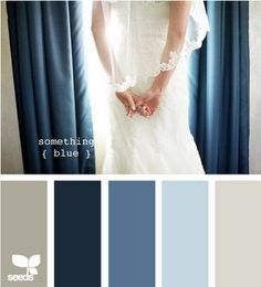something blue Design Seed wedding color palette hues tones shades color inspiration cards summer fall winter Exterior House Colors, Exterior Paint, Exterior Design, Colour Schemes, Color Combos, Color Composition, Color Palate, Paint Colors For Home, Paint Colours