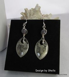 Smoke on the Water  Hand Painted Earrings by DesignbySheila