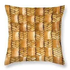 Flax Throw Pillow featuring the photograph Weaving Flax - Gold by Wairua o te Moana