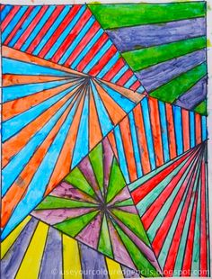 Use Your Coloured Pencils: Abstracts in Complementary Colours