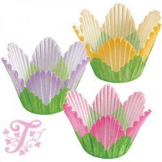 Muffin papír trió - Virágszirom