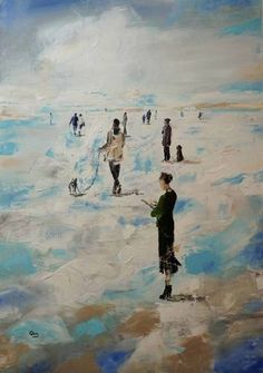 "Saatchi Art Artist OSCAR ALVAREZ; Painting, ""Walks through the sky -19"" #art"