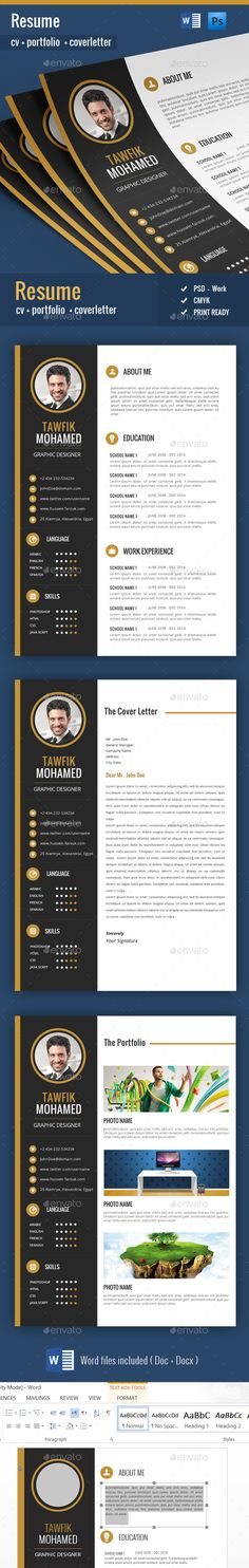 Resume Template PSD, MS Word Download here    graphicriver - personal resume template
