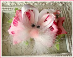 Easter bunny hairbow #Easter #Easter_hairbow