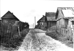 Minsk, Belorussia, Huts in the ghetto.