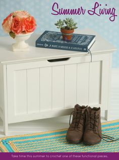 Crochet patterns to summer-ize your home.