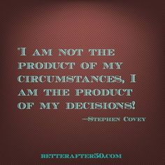Product Of Your Decisions.....