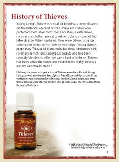 I love this story of how Thieves oil got it's name! The oils kept the Black Plague away!