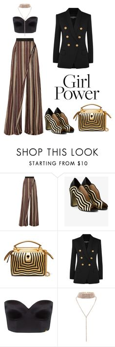"""""""Untitled #174"""" by san-yay on Polyvore featuring Balmain, Fendi, Ultimo and MyPowerLook"""