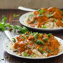Healthy Crockpot Butter Chicken is Indian comfort food recipe made healthier and lighter. No butter or heavy cream used & it cooks while you are away.