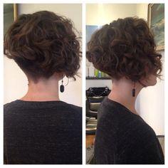 Devacurl Undercut Bob Haircut. Hair By Tiffany Shuck