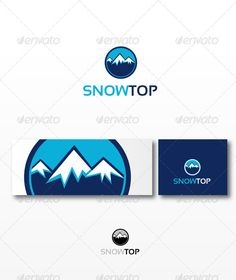Snowtop - Logo Design Template Vector #logotype Download it here: http://graphicriver.net/item/snowtop/970953?s_rank=1232?ref=nexion