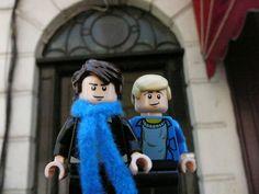 Lego!Sherlock and Lego!John at 221B Baker Street by degalaxis