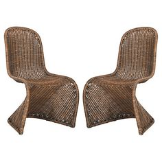Tana Wicker Side Chairs, Natural Now: $295.00 							Was: $395.00