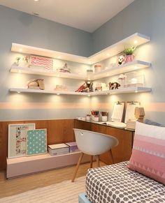 Those shelves and lighting!